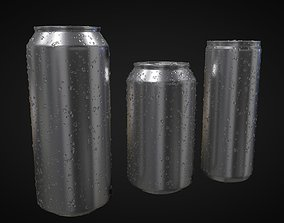 Soda Can With Water Droplets 3D model
