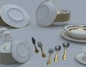 Tableware 3D model realtime