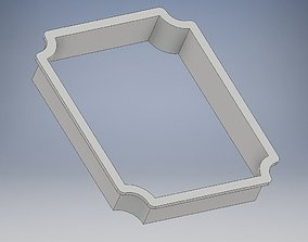 3D printable model SOLID cookie cutter plaque frame 3
