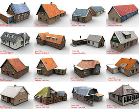 3D asset Low-Poly Houses