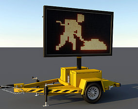 3D asset electronic traffic signal truck