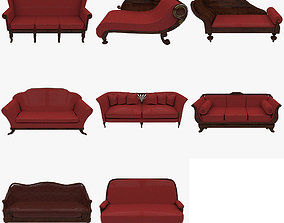 Couch Collection 3D asset