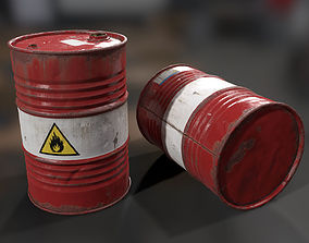 3D asset Oil Drum