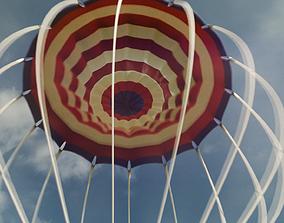 3D asset animated Parachute
