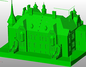 3D printable model Frenkel s villa in iauliai Lithuania