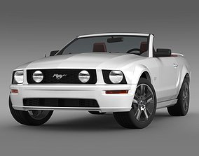 3D Ford Mustang Convertible GT 2005