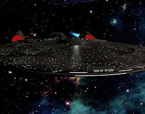 3D model Starship USS Resonance