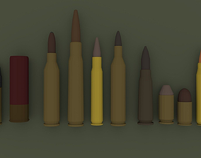 3D model Low-Poly Ammo