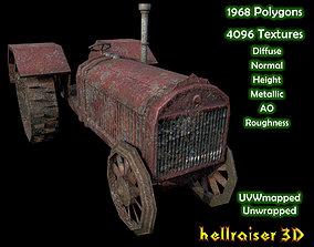 Tractor - Dirty Textured 3D model