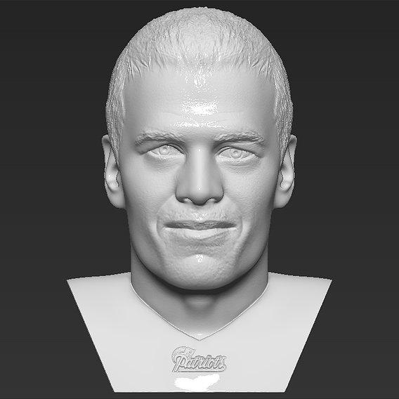 Tom Brady bust for 3D printing