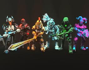 3D asset Champions Stylized Character