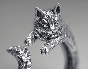 3D print model printing High detailed cat ring