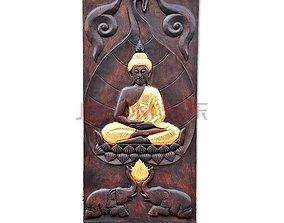 3D print model Mural Buddha wood carving file stl OBJ 3