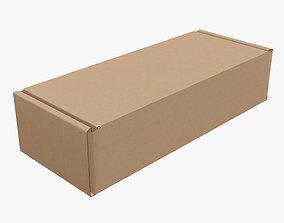 3D Corrugated cardboard box packaging 01