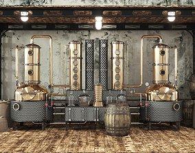architectural 3D model Alcohol mashine