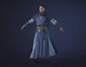 Chinese Swordman 3D asset
