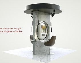Barber Furniture 3d model
