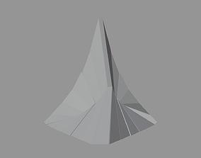 Artistic Decorative Peak Structure 3D model