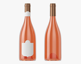 Wine bottle mockup 13 3D