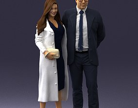 Casual couple 0001 3D model