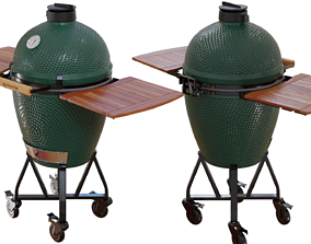 green 3D Kamado grill - Big Green Egg