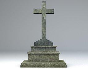 Gravestone 6 Low Poly 3D model