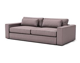 mirabel pewter sofa 3D model VR / AR ready