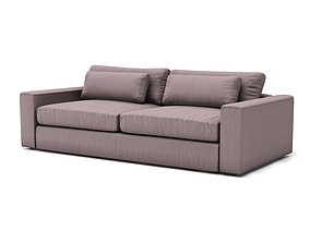 mirabel pewter sofa 3D model