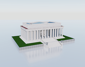 The Abraham Lincoln Memorial 3D asset