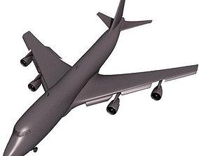 Detailed Dark Airplane 3D model