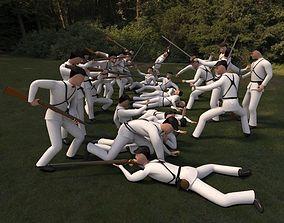 3D asset Civil War soldiers