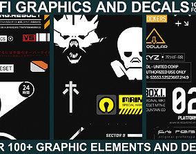 Sci-fi Graphics and Decals - Vol2 3D model