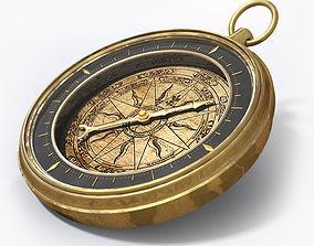 Antique Compass 3D antique