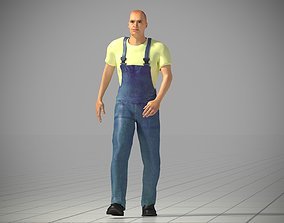 3D model Worker animated