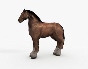 Low Poly Horse 3D asset