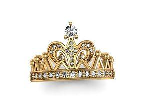 3D print model fashion Ring crown