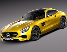 3D model germany Mercedes-Benz AMG GT S 2016