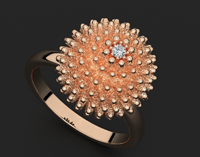 Stylish cactus ring 508 3D print model