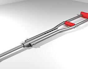 Walking Aids - Underarm Crutch 3D model
