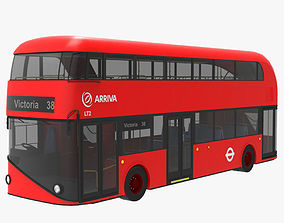London Bus 3D model low-poly