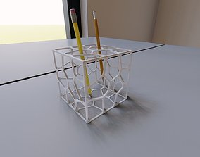 3D printable model CUBIC PARAMETRIC PEN HOLDER