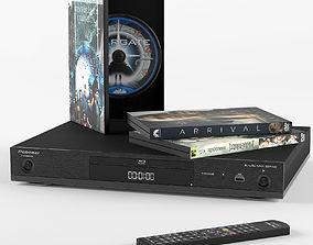 3D model Pioneer Blu-ray player slim
