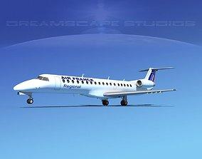 3D model Embraer ERJ-145 Air France Regional