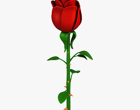 3D model Cartoon Rose Flower v 1