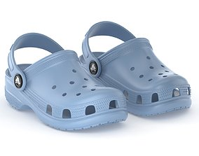 Crocs Classic Clog Chambray Blue 3D model