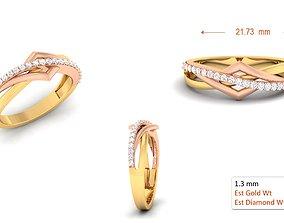 Wedding band engagement ring8 3D printable model