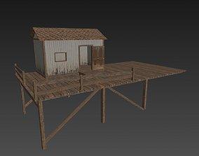 Fishing Hut 3D model