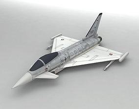 Eurofighter Typhoon Jet Aircraft LOW 3D model