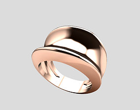 COOL PLAIN WIDE FRONT DESIGN BAND RING 3D