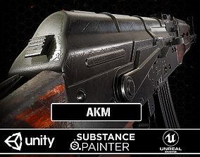 3D asset AKM Rifle